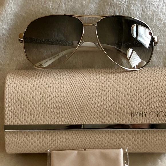 7d28980f669 New - Jimmy Choo - Lexie Aviator Sunglasses
